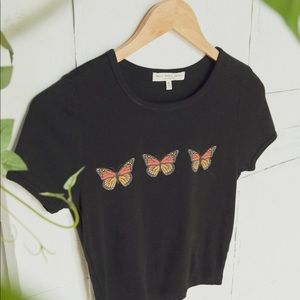 Truly Madly Butterfly Cropped Tee